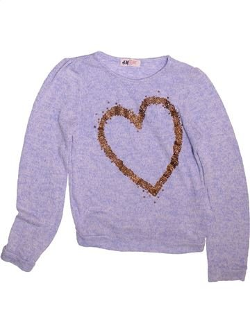 Pull fille H&M gris 10 ans hiver #1490760_1