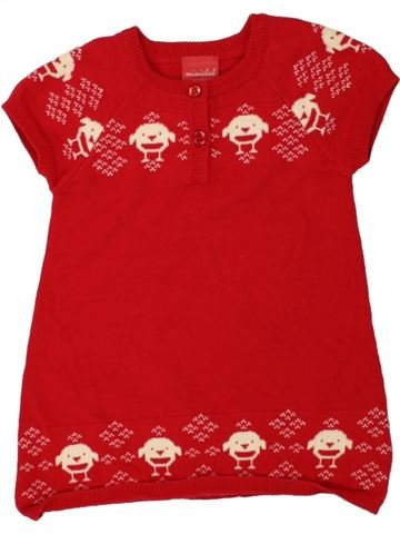 Robe fille MINI CLUB rouge 6 mois hiver #1490773_1