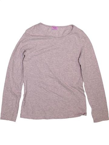 T-shirt manches longues fille F&F rose 11 ans hiver #1490894_1