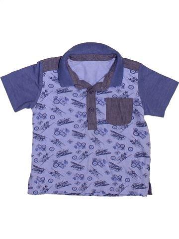 Polo manches courtes garçon MATALAN violet 6 mois été #1490998_1