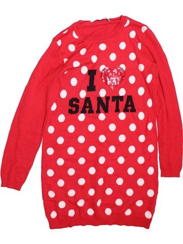 Robe fille FREESPIRIT rouge 10 ans hiver #1491011_1