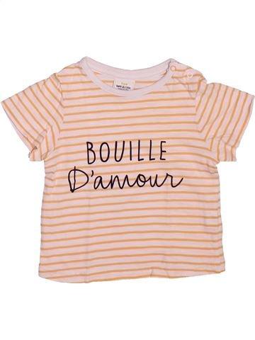 T-shirt manches courtes garçon TAPE À L'OEIL violet 12 mois été #1491083_1