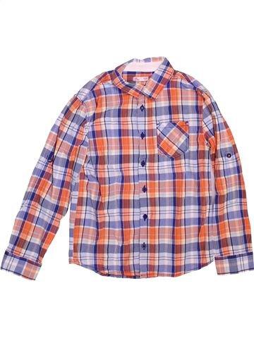 Chemise manches longues garçon DPAM violet 8 ans hiver #1491131_1