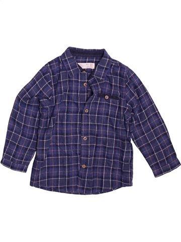 Chemise manches longues garçon ZARA bleu 4 ans hiver #1491183_1