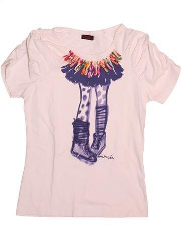 T-shirt manches courtes fille CATIMINI rose 16 ans été #1491200_1