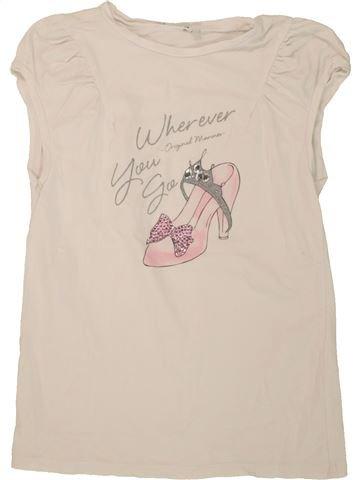 T-shirt manches courtes fille SANS MARQUE beige 12 ans été #1491328_1