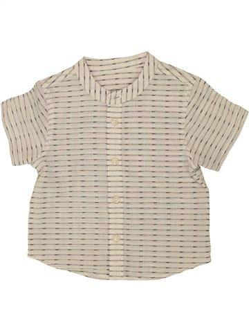Chemise manches courtes garçon MATALAN beige 9 mois été #1491623_1