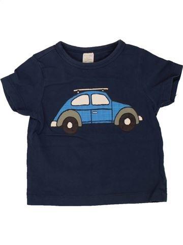 T-shirt manches courtes garçon MINI CLUB bleu 12 mois été #1491643_1