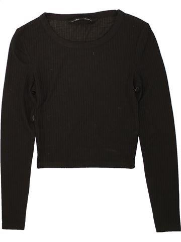 T-shirt manches longues fille NEW LOOK noir 11 ans hiver #1491847_1