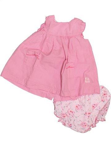 Robe fille PETIT BATEAU rose 3 mois été #1491884_1
