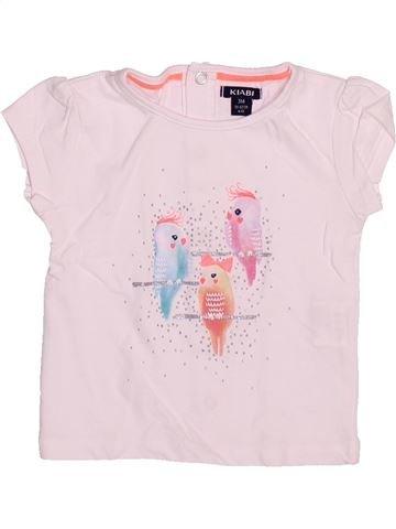 Camiseta de manga corta niña KIABI rosa 3 meses verano #1491925_1
