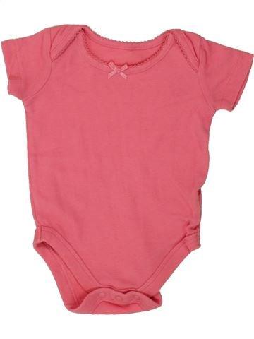 T-shirt manches courtes fille JOHN LEWIS rose 3 mois été #1492120_1