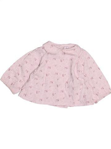 T-shirt manches longues fille OKAIDI blanc 3 mois hiver #1492165_1