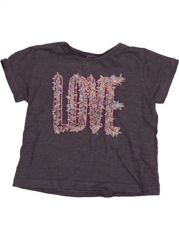T-shirt manches courtes fille ZARA gris 12 mois été #1492189_1