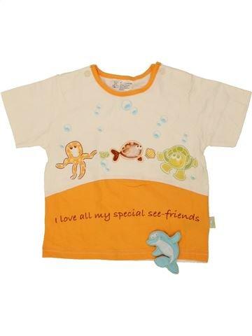 T-shirt manches courtes garçon SANS MARQUE orange 18 mois été #1492216_1