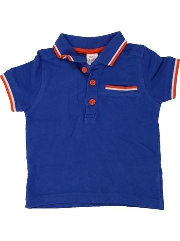 Polo manches courtes garçon MINI CLUB bleu 12 mois été #1492478_1