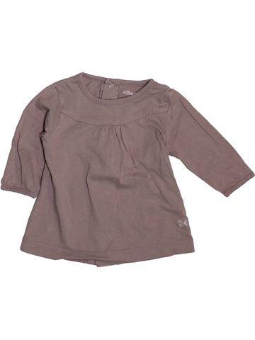 Camiseta de manga larga niña KIABI gris 3 meses invierno #1492653_1