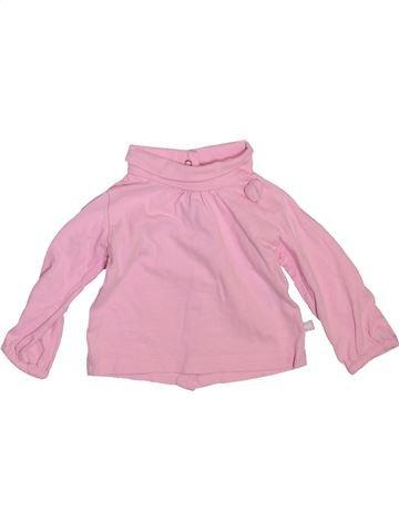 Camiseta de cuello alto niña GEMO rosa 3 meses invierno #1492693_1