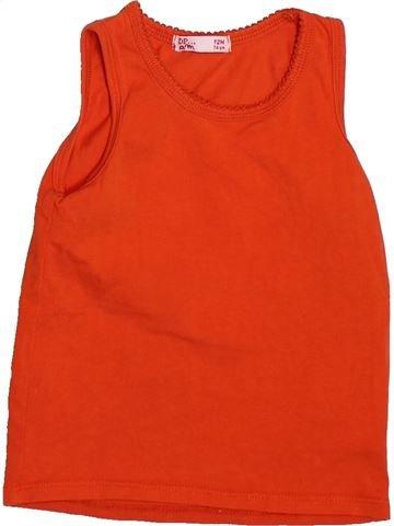 T-shirt sans manches fille DPAM rouge 12 mois été #1492698_1