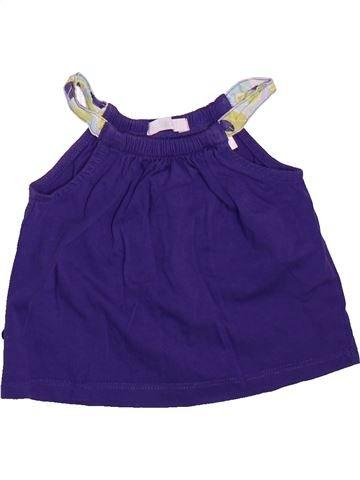 Camiseta sin mangas niña OKAIDI violeta 12 meses verano #1492887_1