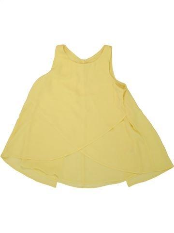 Blouse manches courtes fille C&A jaune 12 ans été #1492945_1