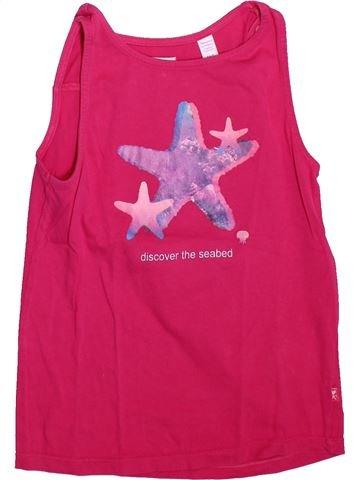 T-shirt sans manches fille OKAIDI rose 8 ans été #1493017_1