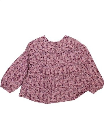 Blouse manches longues fille OKAIDI rose 2 ans hiver #1493042_1