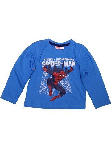 T-shirt manches longues garçon SUPERS HÉROS bleu 4 ans hiver #1493112_1