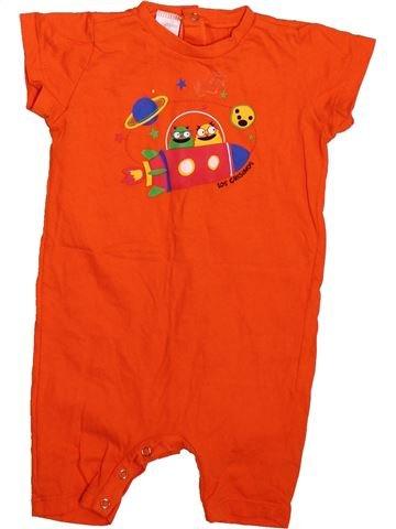 Combinaison courte garçon GRISINO orange 12 mois été #1493207_1