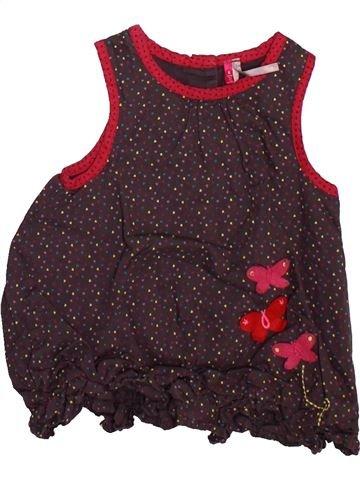 Robe fille ORCHESTRA marron 6 mois été #1493270_1
