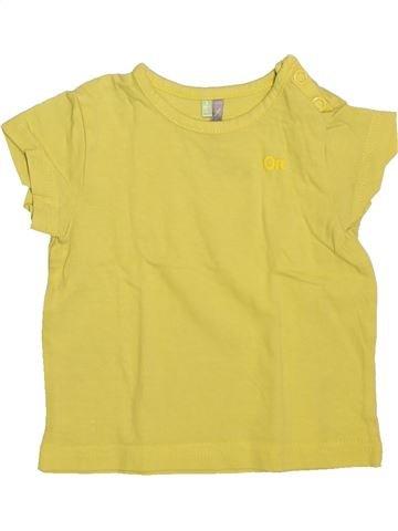 Camiseta de manga corta niño ORCHESTRA amarillo 3 meses verano #1493331_1