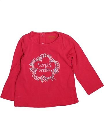 T-shirt manches longues fille ORCHESTRA rouge 18 mois hiver #1493343_1