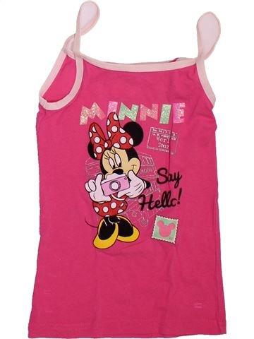T-shirt sans manches fille DISNEY rose 6 ans été #1493355_1