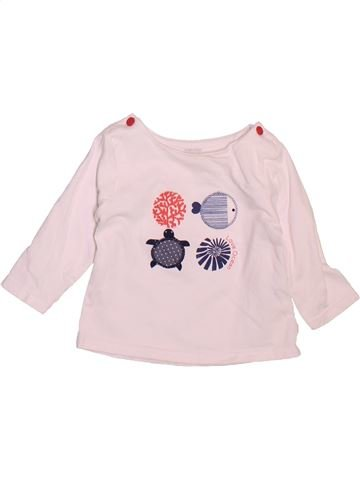 T-shirt manches longues fille OKAIDI rose 6 mois hiver #1493401_1