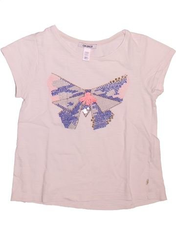 T-shirt manches courtes fille OKAIDI violet 6 ans été #1493529_1
