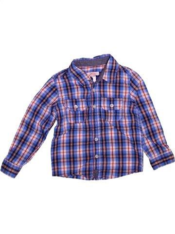 Camisa de manga larga niño LA REDOUTE CRÉATION azul 4 años invierno #1493571_1