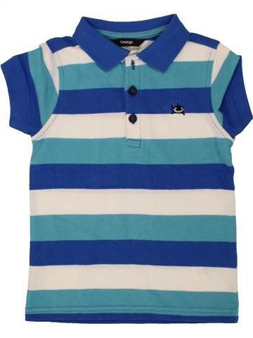 Polo manches courtes garçon GEORGE bleu 3 ans été #1493815_1