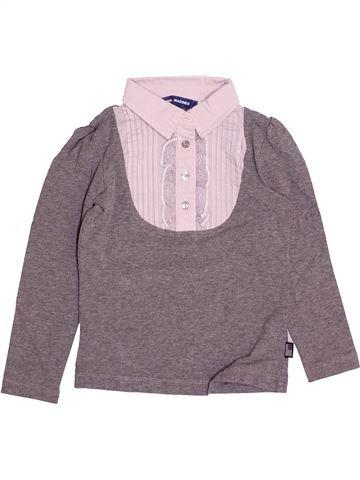 T-shirt manches longues fille ORIGINAL MARINES violet 4 ans hiver #1493842_1