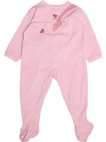 Pyjama 1 pièce fille PETIT BATEAU rose 2 ans hiver #1493898_1