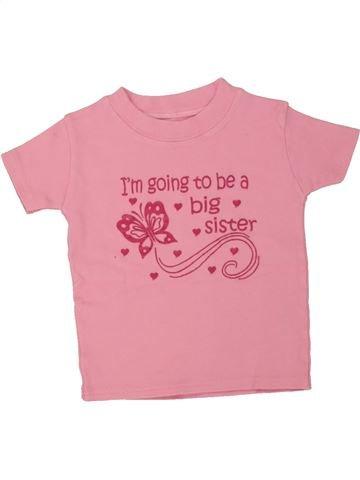 T-shirt manches courtes fille SANS MARQUE rose 2 ans été #1493922_1