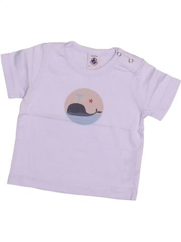 T-shirt manches courtes garçon PETIT BATEAU rose 6 mois été #1494028_1