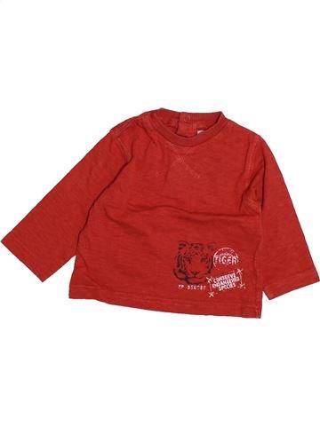 T-shirt manches longues garçon TAPE À L'OEIL rouge 6 mois hiver #1494095_1