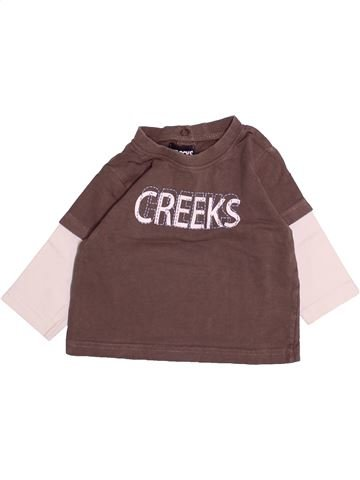 T-shirt manches longues garçon CREEKS marron 12 mois hiver #1494098_1