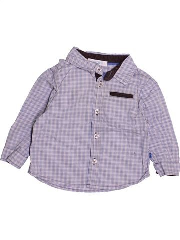 Chemise manches longues garçon OKAIDI violet 6 mois hiver #1494178_1