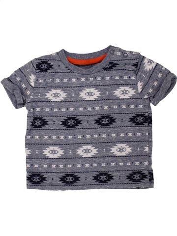 T-shirt manches courtes garçon F&F gris 9 mois été #1494179_1