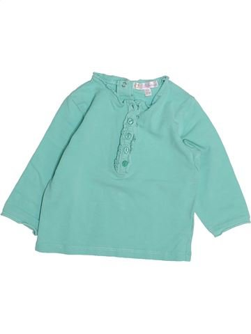 T-shirt manches longues fille KIABI bleu 12 mois hiver #1494216_1