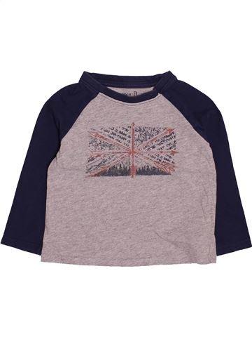 T-shirt manches longues garçon LA REDOUTE CRÉATION violet 3 ans hiver #1494263_1