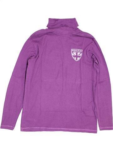 Camiseta de cuello alto niño VERTBAUDET violeta 12 años invierno #1494295_1