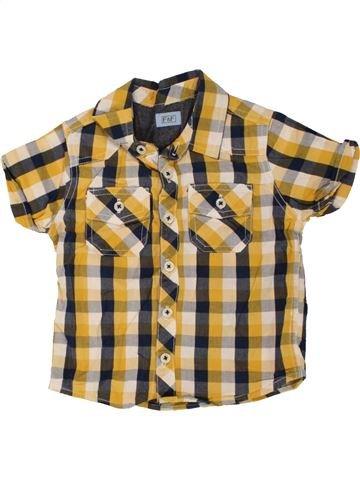 Chemise manches courtes garçon F&F beige 2 ans été #1494337_1