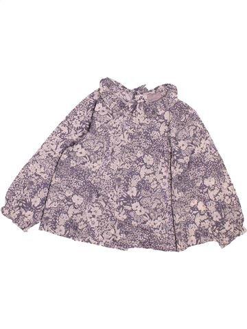 Blusa de manga larga niña CYRILLUS violeta 18 meses invierno #1494351_1